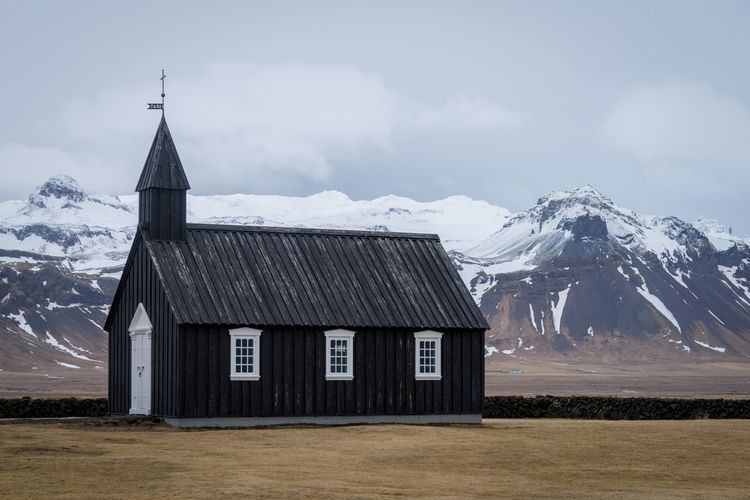Búðakirkja lone black church ex - jeffmoreau | ello
