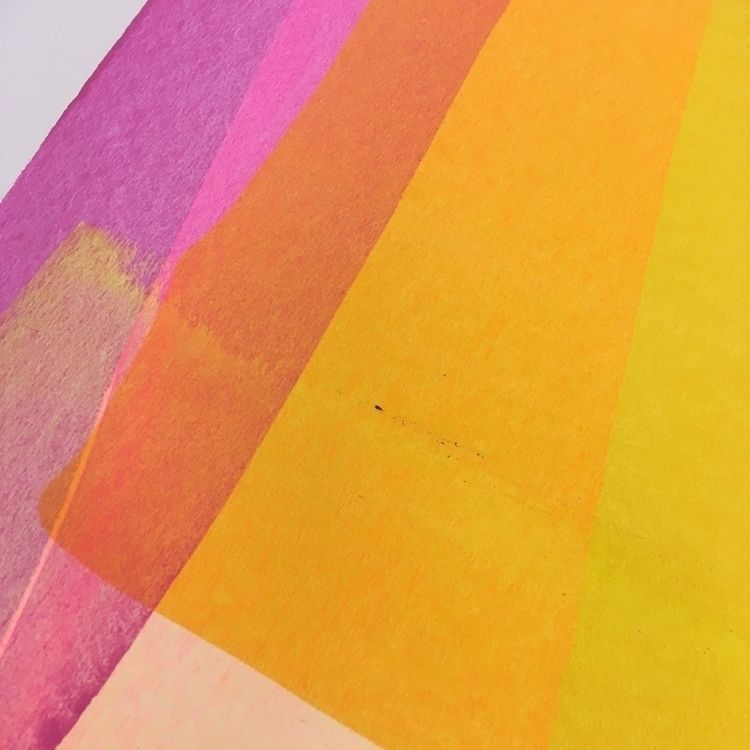 YM  - acrylic, paper, magenta, yellow - mark_strozier | ello
