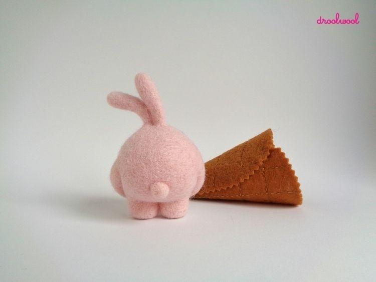 bunnytail, pinkbunny, bunnyicecream - droolwool | ello