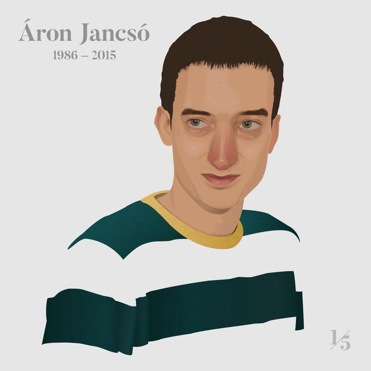 Áron Jancsó (1986–2015) graphic - un_quinto | ello