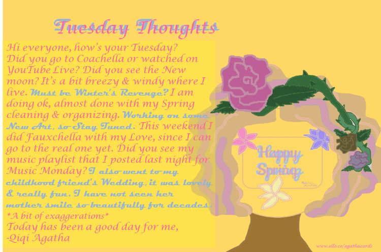 Tuesday!! Tuesday Thoughts Coac - agathacards | ello
