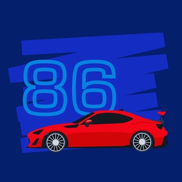 Toyota 86 - vectorart, vector, vectorartist - mrmusuko | ello
