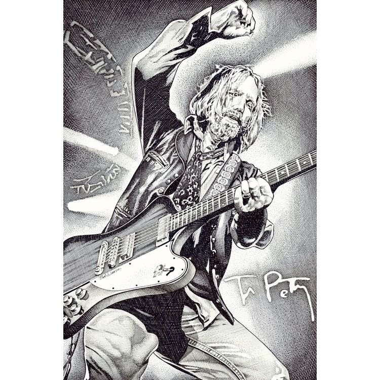 late, great, Tom Petty. pen ink - bobweaver | ello