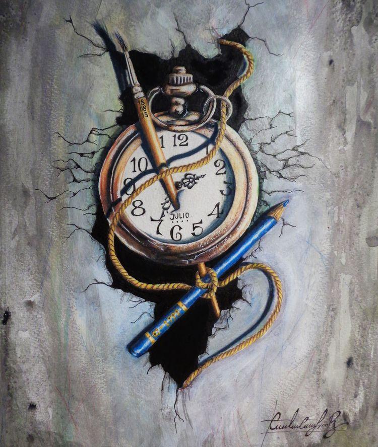 Title time Media Acrylics, goua - cristhianloaiza | ello