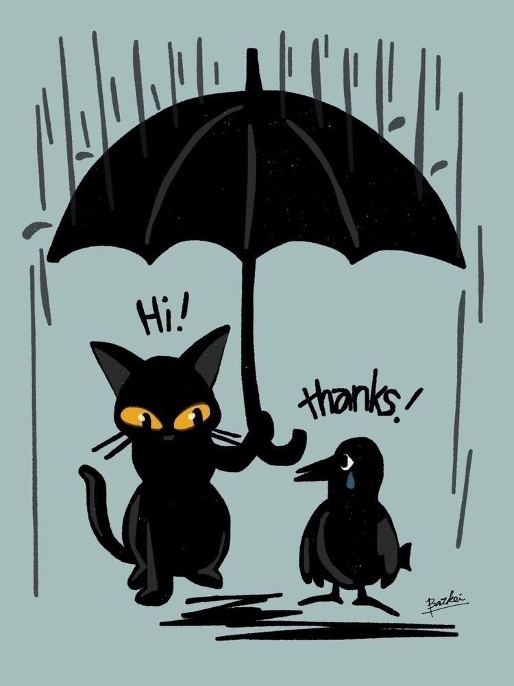 cat, 猫, cats, kitty, feline, イラスト - batkeiart | ello