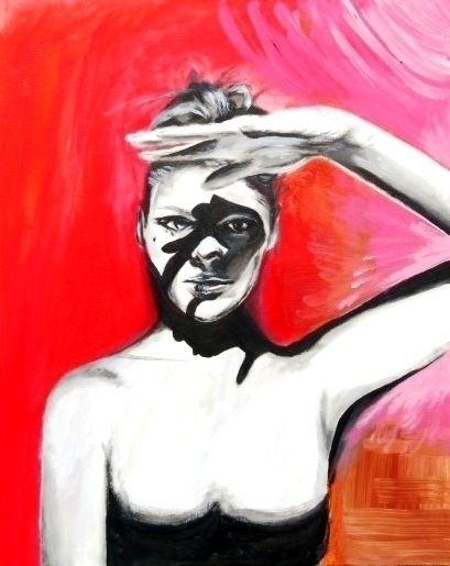 Shadow hunter (acrylics canvas - katharinawozny | ello