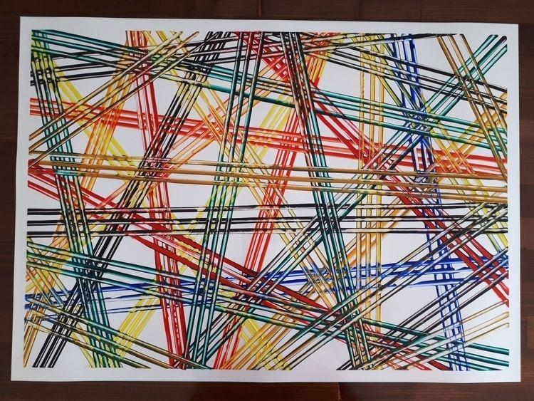 50x70 cm, acrylics plastic shee - artparaskevi   ello