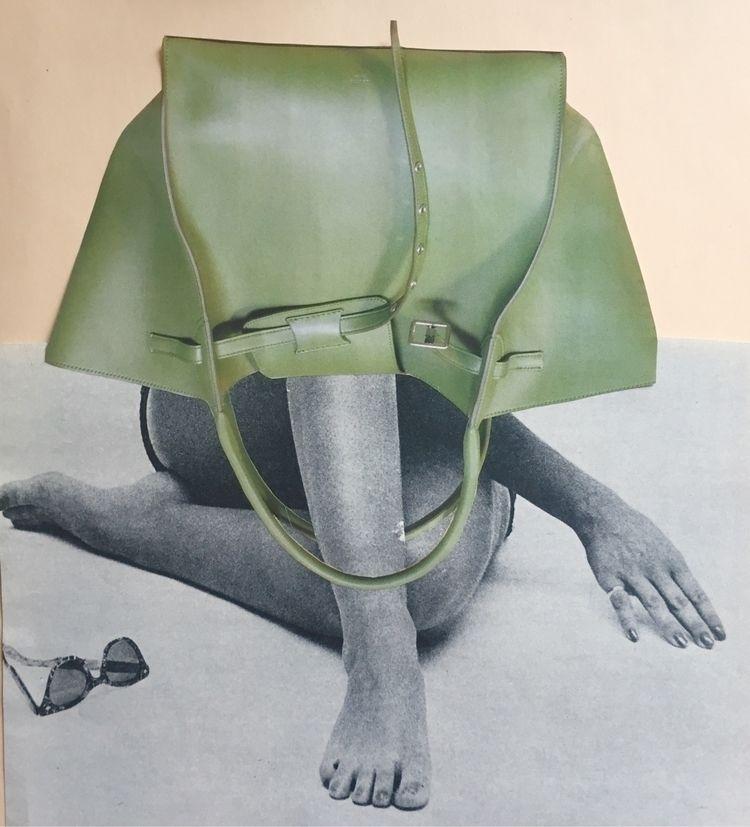 Bashful Bag Lady - handmade col - deborahstevensonartist | ello