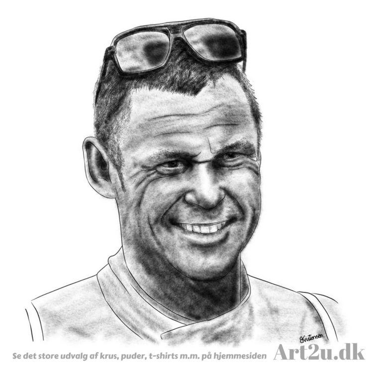 Pen Ink drawing Art2u.dk - Racerdriver - art2u   ello
