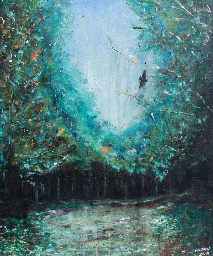 Darkness Fall, acrylic canvas,  - henrycampillasinnott | ello