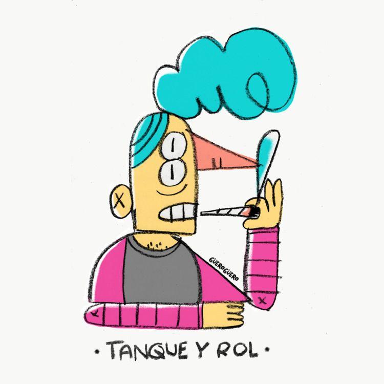 Tanque rol - doodle, drawing, digitaldrawing - gueroguero | ello