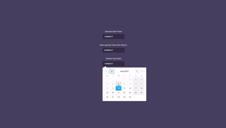 16 React.js Datepickers Collect - freefrontend | ello