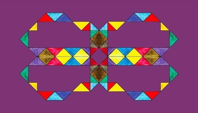 Reflective Triangles Purple Dig - istvanocztos | ello