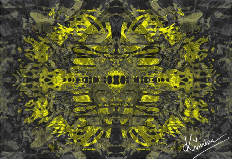 kimbaart, abstract, drawing, mixmedia - kimbahanghal | ello