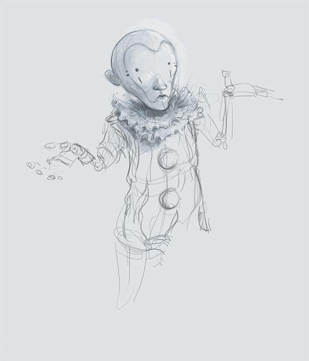Unused character sketch VR proj - jonny_reid | ello