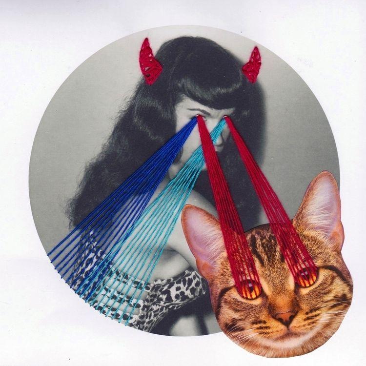 Schizo-. part 1/7 magnet - embroidery - nicole996 | ello