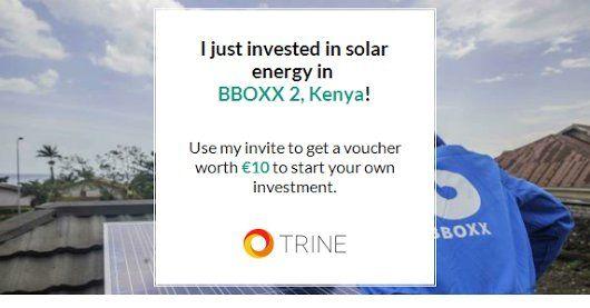 invested 2⃣ ! 2 €10 - BBOXX, SolarEnergy - lennarrrt | ello