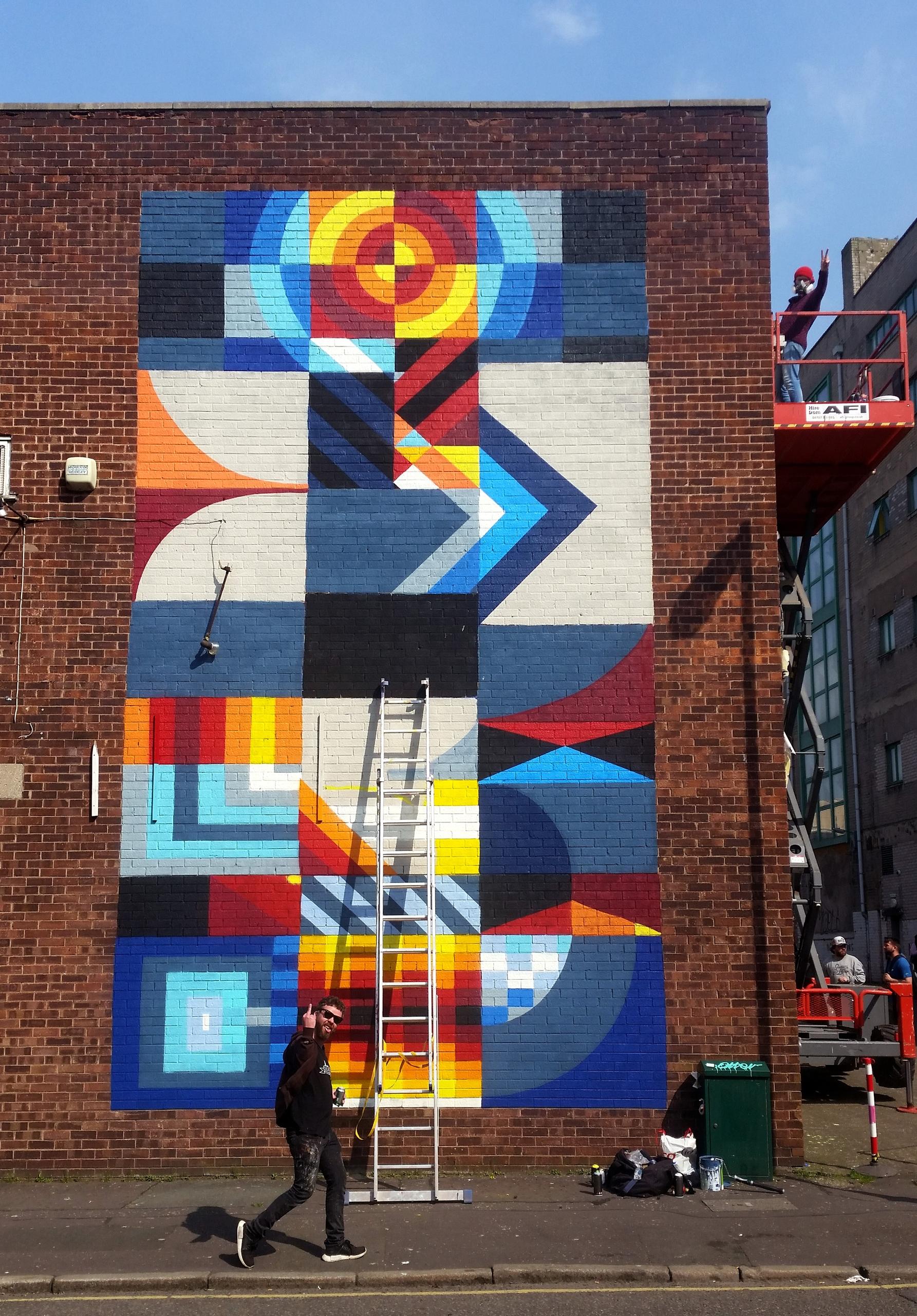 Shot week Contrast mural festiv - shaneomalleyart   ello