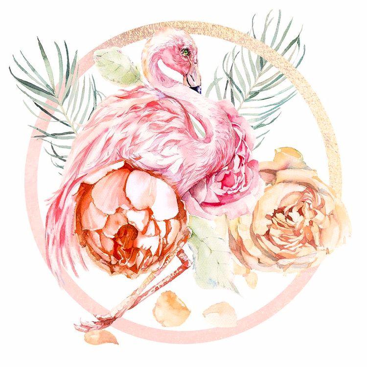 """Shimmering Rose Gold Flamingo  - littlebunnysunshine | ello"