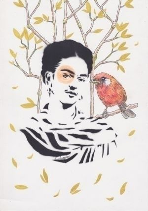 Frida birds - cardellina rubra  - lukrezia_yells_like_hell | ello