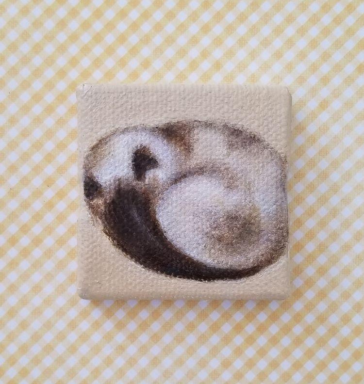 Time nap... Miniature painting  - nora_ | ello