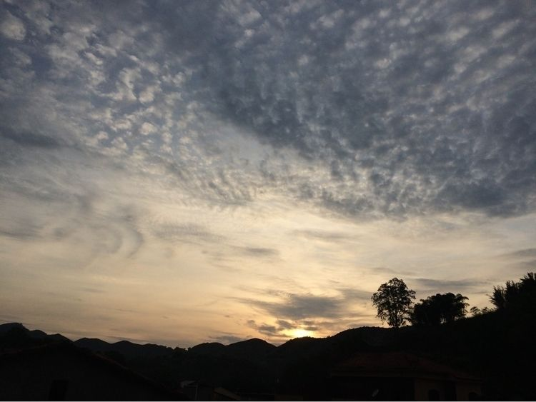 sunset, sky, mountains, view - slowdancing | ello
