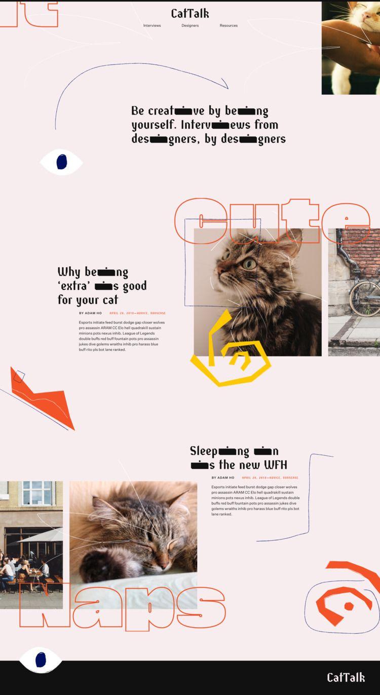 design, webdesign, layout, typography - adamho | ello