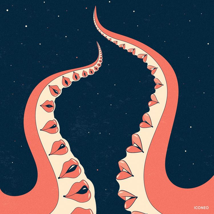 Octokiss - art, illustration, design - iconeo | ello