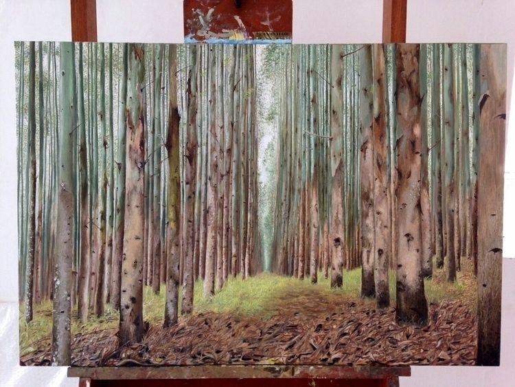 Floresta de Eucalipto, 2016, oi - giosimoes | ello