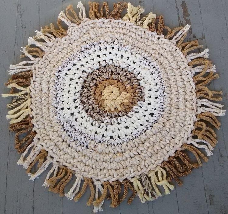 SOLD...Handmade Crochet Rope Ru - maryherrigfiberarts | ello