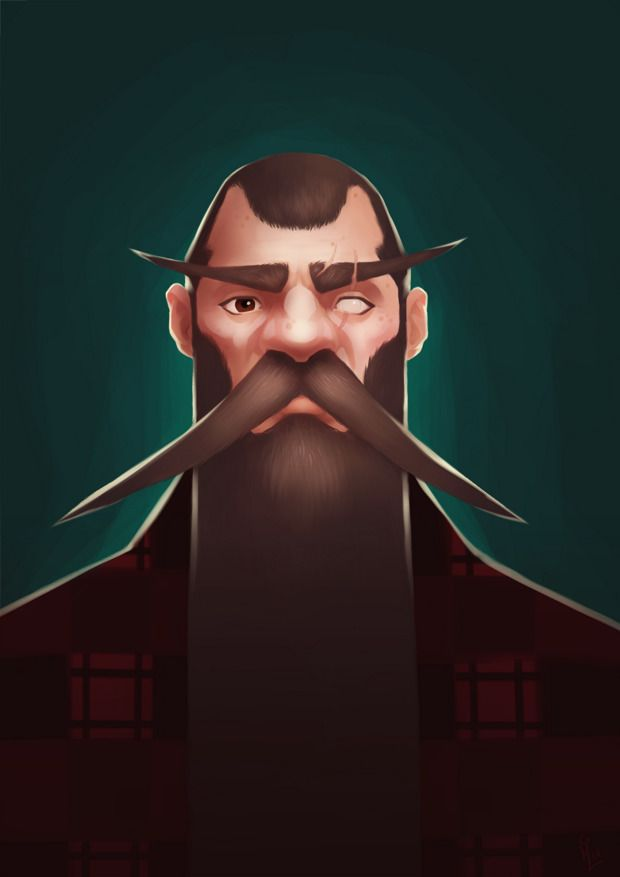 Portrait 03 - Big Beard - illustration - schoyhan | ello