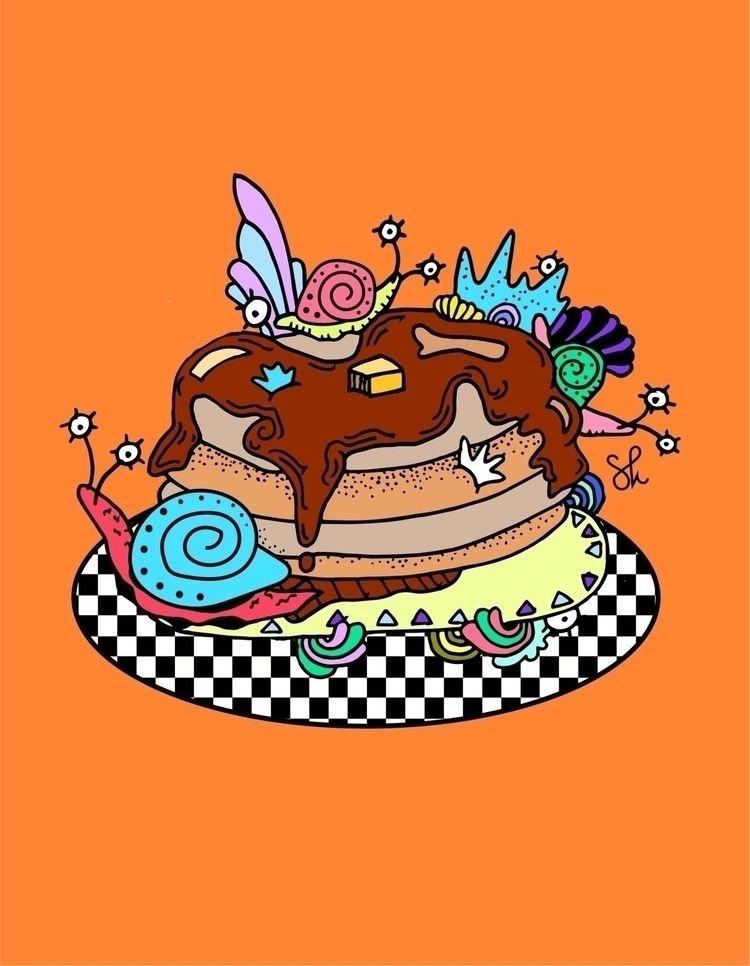 """French Pancakes"" popular desig - shelbyworks | ello"