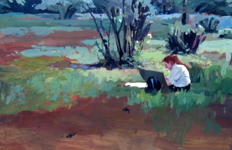 Painting plein air - smallformat - karolinaciezak | ello