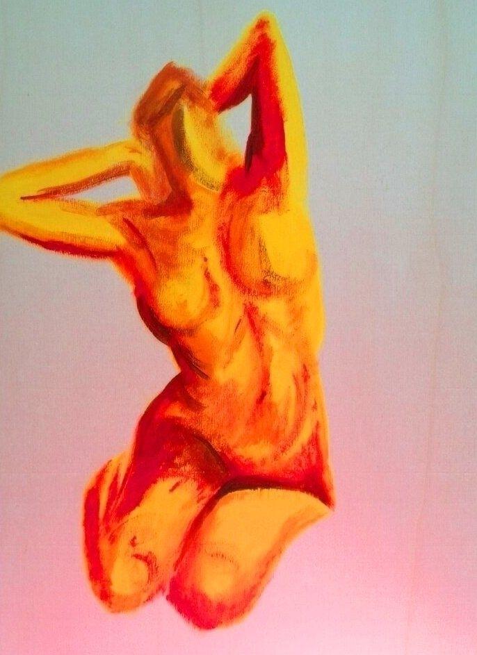 Enjoying warmth (acrylics canva - katharinawozny | ello
