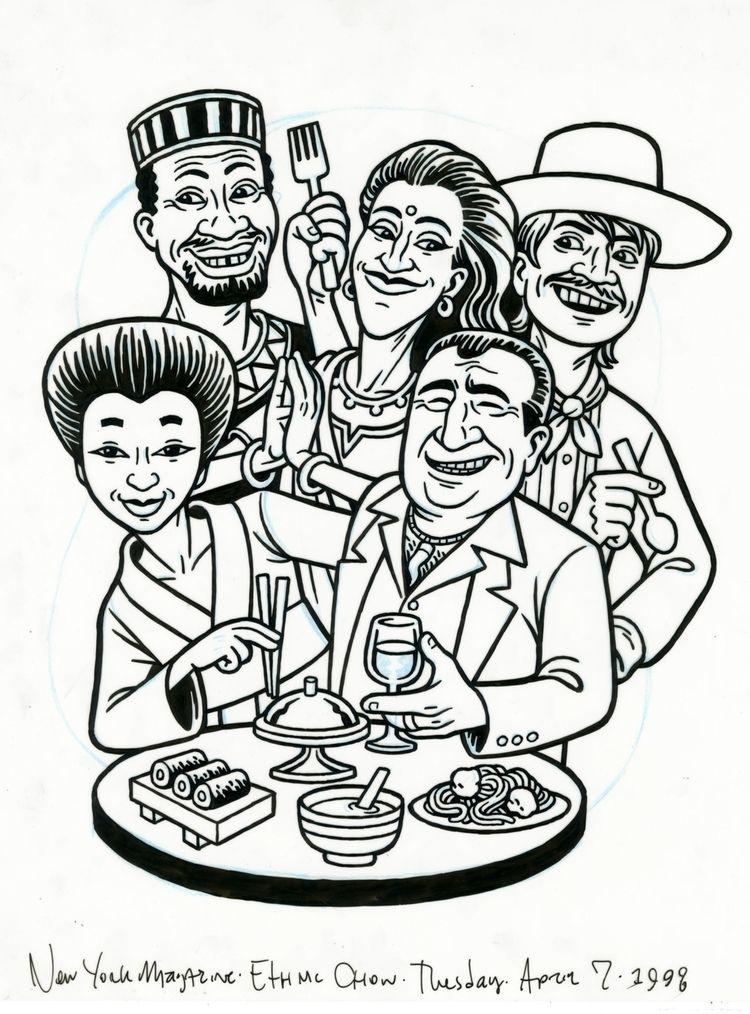 Ethnic Chow, illo YORK Magazine - dannyhellman   ello