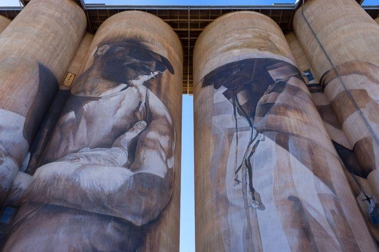 Silo Art Trail Artist: Guido Va - garylight | ello