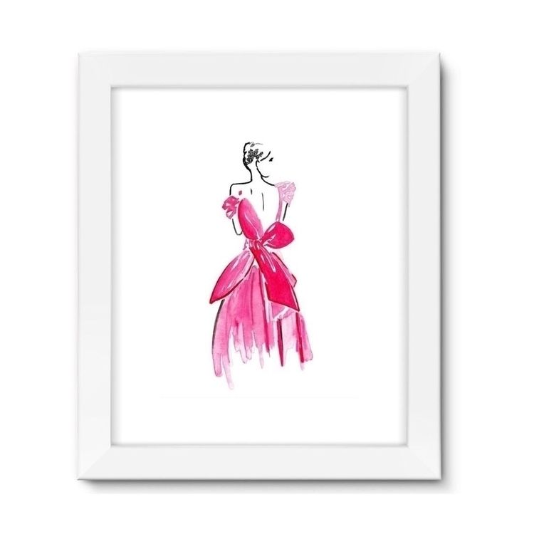 Lady Pink art print - fashionillustration - ladyohjaney | ello