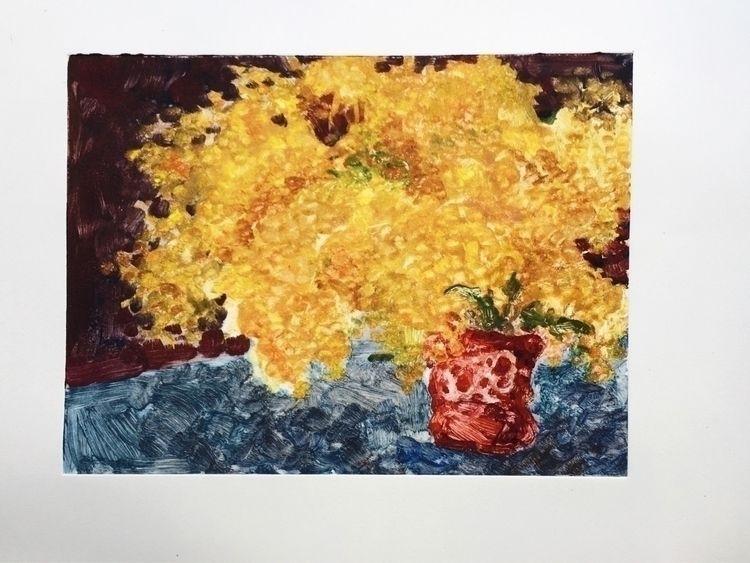 monoprint, flowers, stilllife - yuliavirko | ello