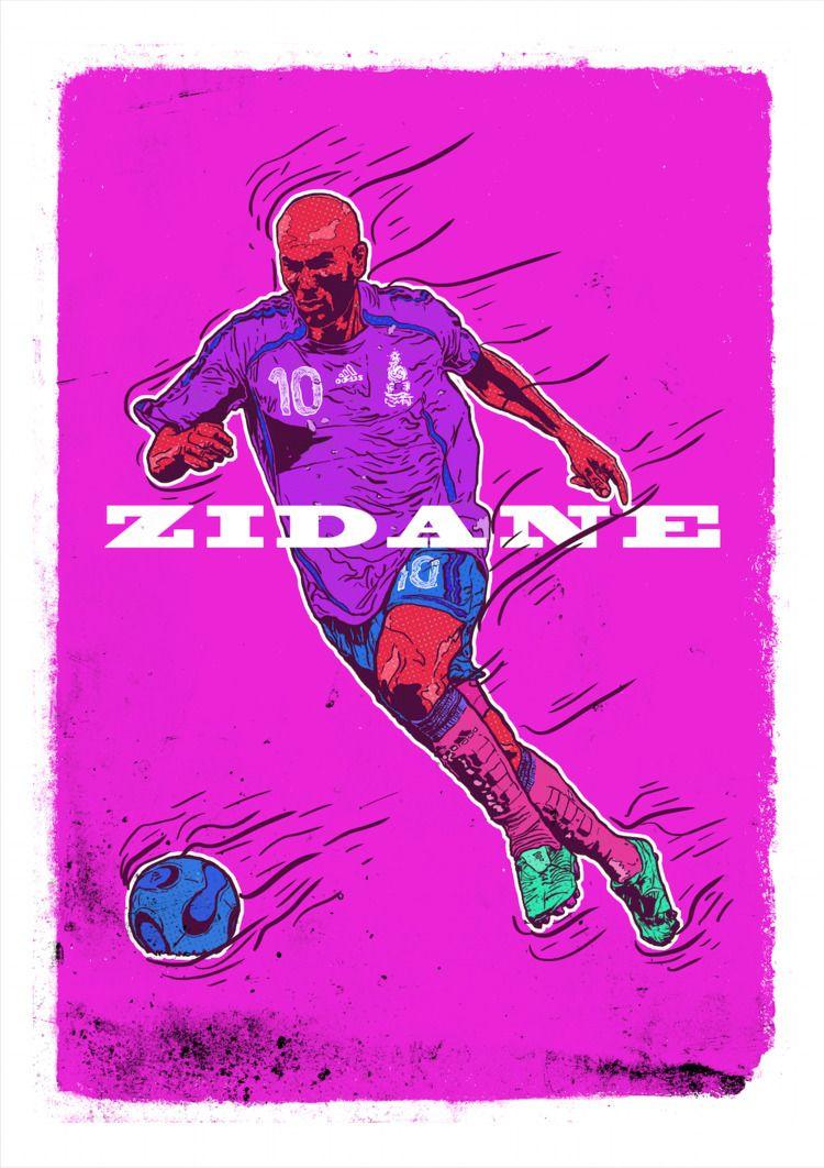 Zidane final 1 - illustration, justblack - justblack | ello