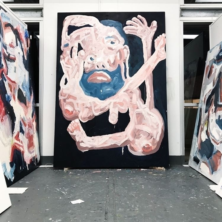 WIP: portrait, oil canvas, 240c - adriancharlessmith | ello