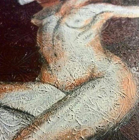 Nude pattern (acrylics wood).  - katharinawozny | ello