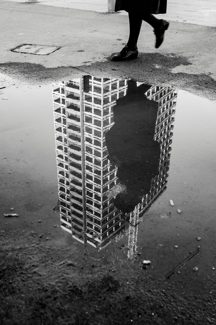 Puddles buildings - streetphotography - jinghels | ello