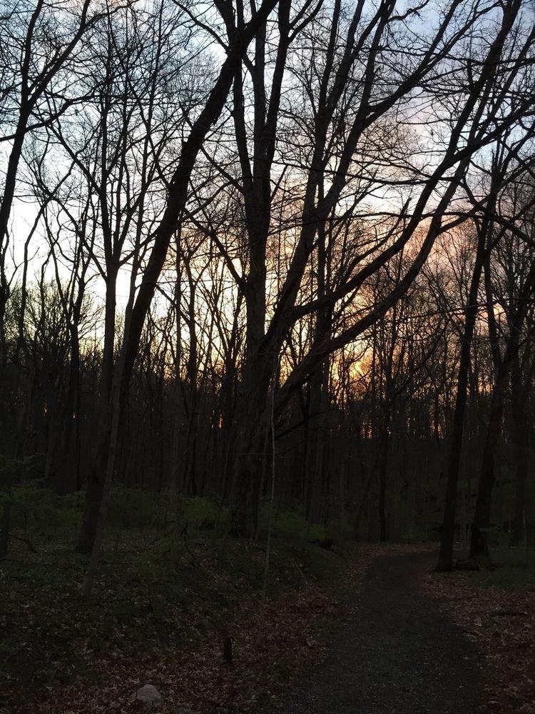 Sun coming trail. Mounds State  - pictorific   ello
