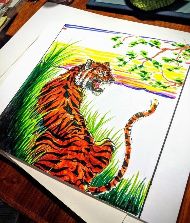 tiger long grass markers heavy  - darkharvester | ello