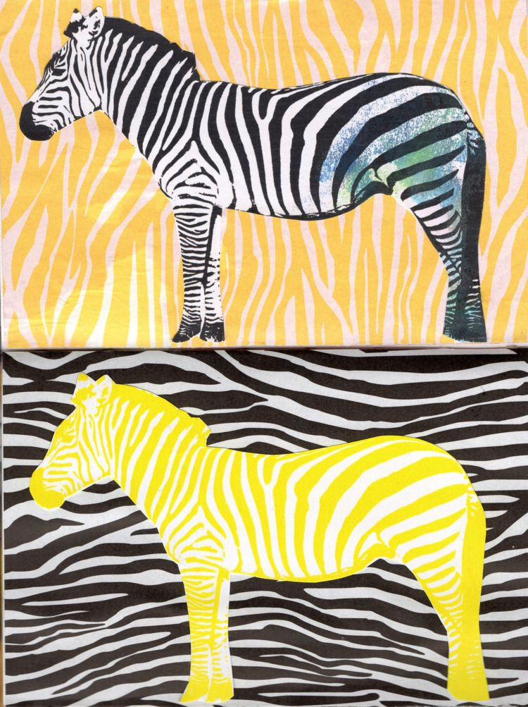 Art Journal - collage, zebra, paper - franalvez | ello