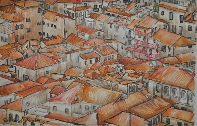 Granada 2014 Acrylic oil paper  - ben-peeters | ello