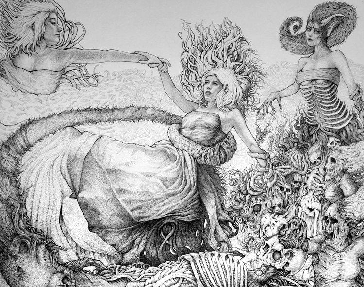 Older ink drawing Titled Pulled - joshuamenko   ello
