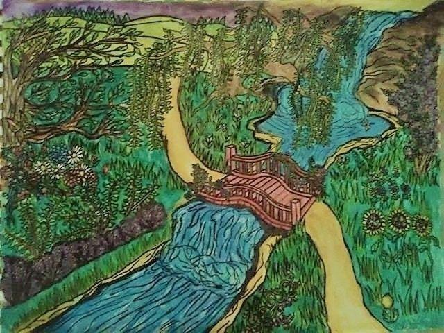 Bridge 2018 Watercolor Sharpie - acemeadowwolf | ello