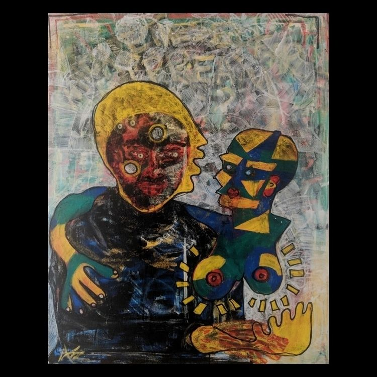 fictional lover - paintmarker, polyurethane - einoder   ello