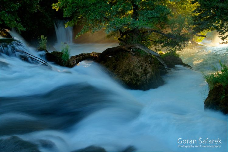 Waterfall sunset krka River - river - gsafarek | ello